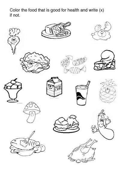 healthy food coloring pages preschool crafts actvities and worksheets for preschool toddler and