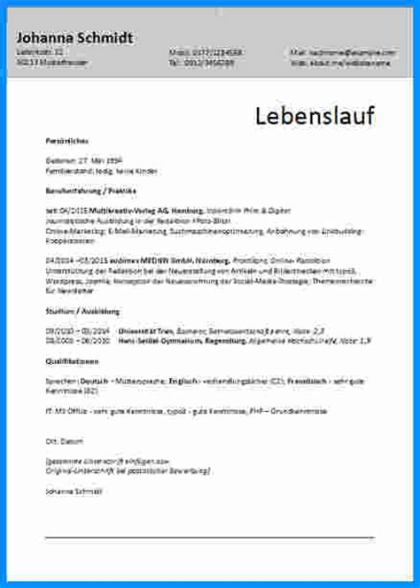 Lebenslauf Ohne Foto 6 Lebenslauf Ohne Foto Business Template