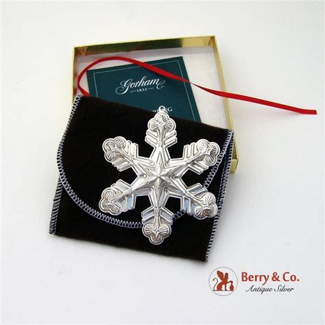 gorham christmas ornament sterling silver 1998 from