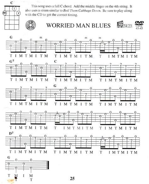 Worried man blues banjo tabs free