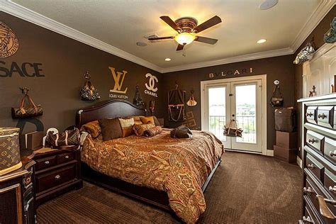 louis vuitton bedroom  texas home  sale takes fashion