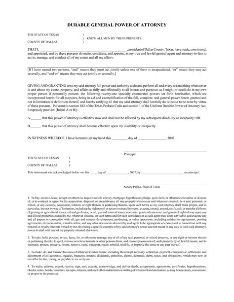 free general power of attorney template best photos of general power of attorney form general