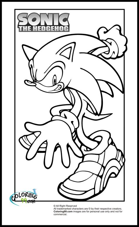 sonic the hedgehog coloring pages free cool sonic the