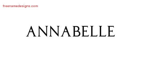 annabelle tattoo font generator regal victorian name tattoo designs annabelle graphic