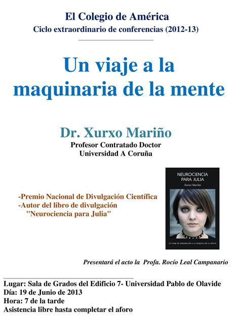 libro neurociencia para julia hoy conferencia del profesor xurxo mari 241 o sobre un viaje