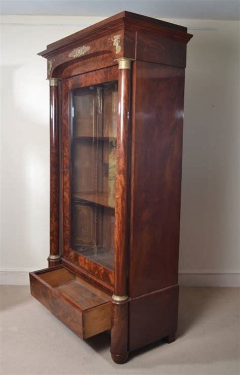 French Bookcase Antique French Empire Mahogany Bookcase C 1820 At 1stdibs