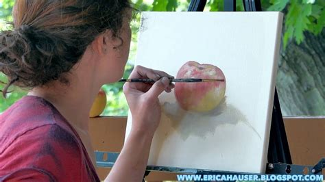 how to be an professional artist an apple a day speed painting by a professional artist