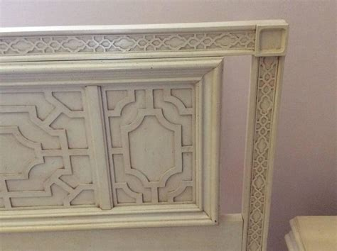 chinese chippendale headboard thomasville headboard vintage king size fretwork chinese