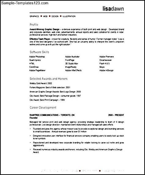 Visual Resume Sles Doc Visual Designer Resume Description Sle Templates