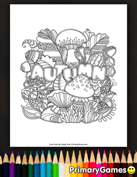 Autumn Coloring Pages Pdf | autumn coloring page printable fall coloring ebook