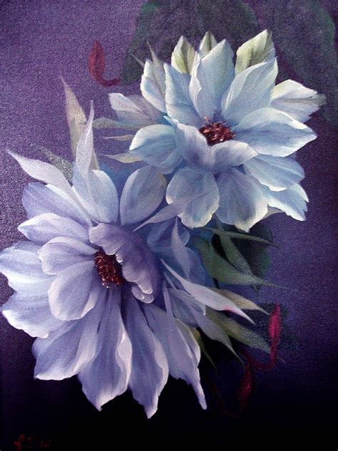 Lovely Painted Flower Painting One Stroke