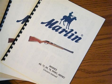 Marlin Model 60 75 99 70 99m1 22 Rifle Owners Manual Ebay