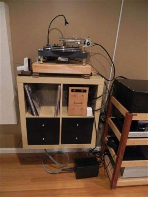ikea expedit as a turntable stand