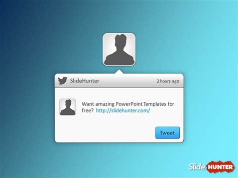 free twitter powerpoint template