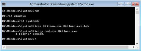 windows reset password utilman how to reset forgotten windows 8 password without using