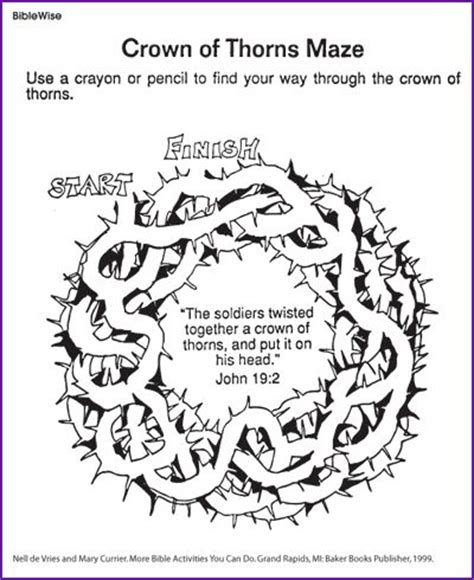 coloring page of jesus with crown of thorns 10 best images about church coloring pages mazes on