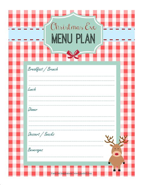 printable holiday meal planner free printable christmas planner set stay organized this