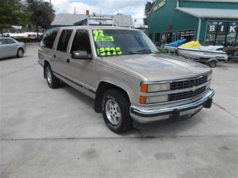 how does cars work 1992 chevrolet suburban 1500 parental controls find used 1992 chevrolet suburban 1500 in 1849 s woodland blvd deland florida united states