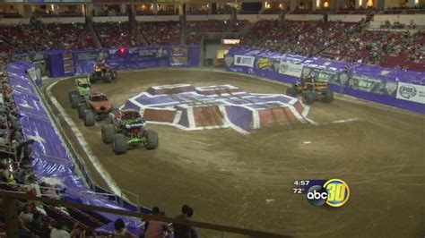 monster truck show fresno ca monster jam takes over save mart center abc30 com