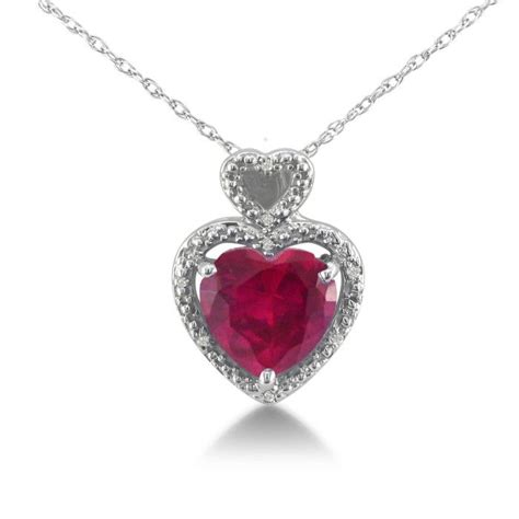Ruby 3 4ct 1 3 4ct ruby and pendant in 10k white gold