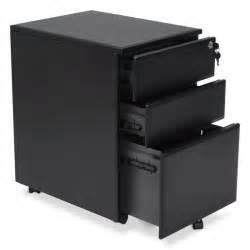 caisson de bureau design 3 tiroirs mathias en m 233 tal noir
