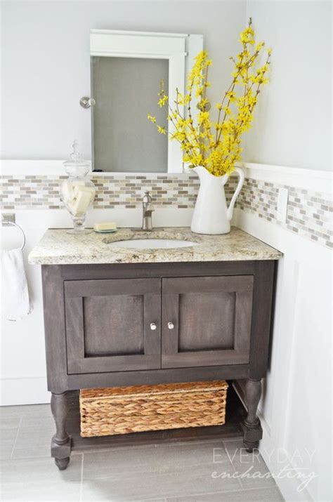 cottage bathroom vanity marvellous basement makeover diy board and batten cottage powder room makeover powder
