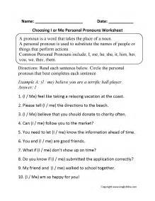 pronouns worksheets personal pronouns worksheets