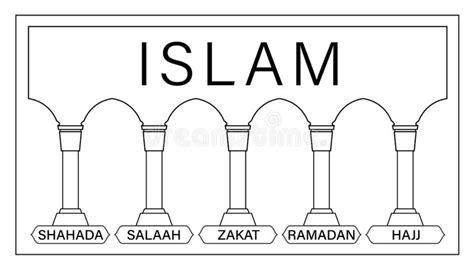 pijlers van islam vector van de jonge geitjes de
