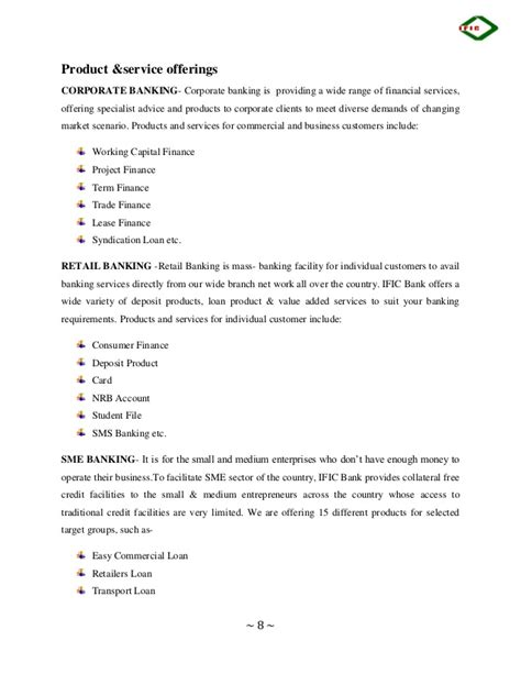 Advantis Credit Limited Letter Internship Report On Sme Banking Of Ific Bank Limited By Lecturesheet