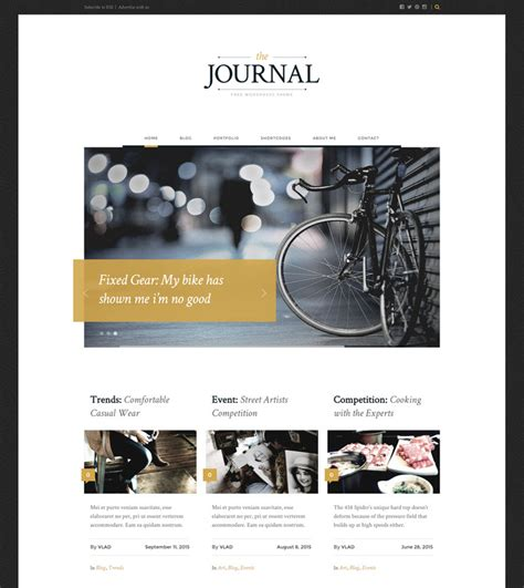 themes wordpress journal 50 best free responsive wordpress magazine themes in 2018