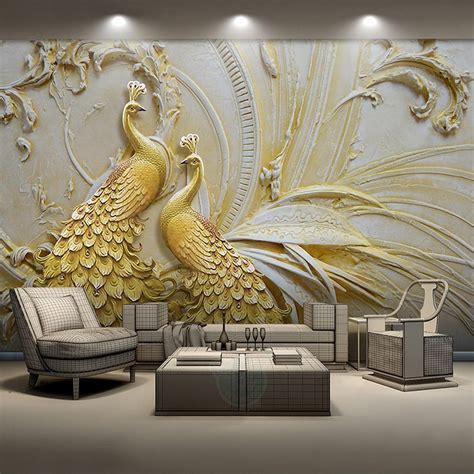 custom mural wallpaper  walls  stereoscopic embossed