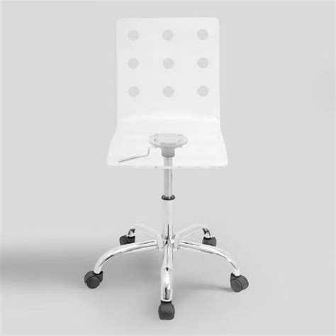 Clear Swivel Chair by Clear Acrylic Swivel Office Chair World Market