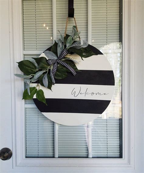 black white  door hanger door hangers