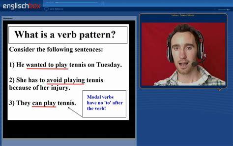 Verb Pattern Youtube | english verbs class verb patterns youtube