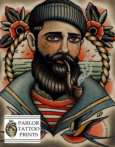 tattoo old school gentleman old school tattoo portrait bearded man tattoos pinterest