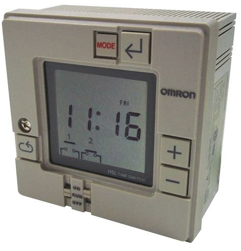 Omron Timer omron electronic timer 7 days 2 spst no 14h247 h5l a