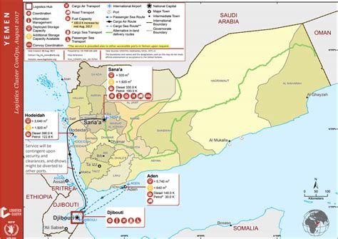 printable map of yemen yemen acaps