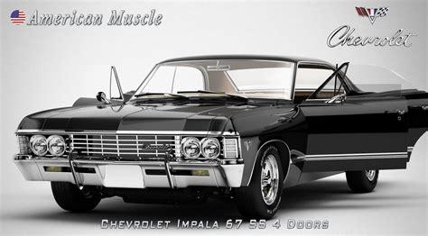 chevrolet 1967 models chevrolet impala 67 3d model