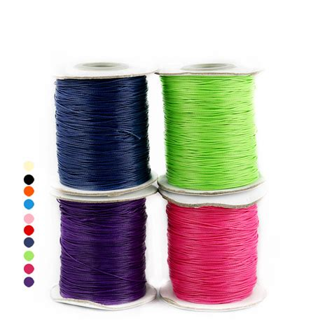 best thread for beading 15 meters 1mm waxed thread cotton cord string