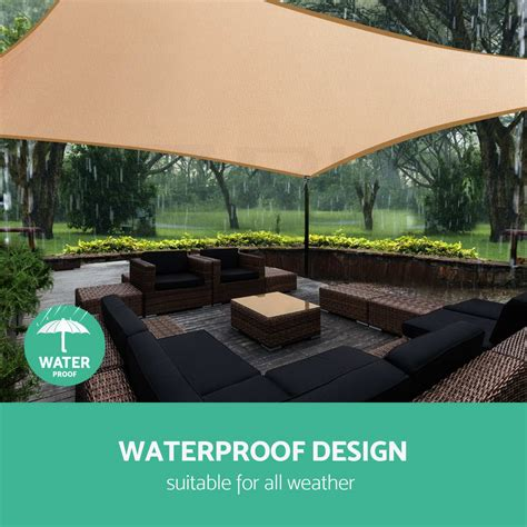 awning sails waterproof waterproof shade sail cloth rectangle triangle square sand
