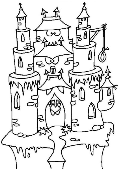 halloween coloring pages castle coloriage chateau 224 imprimer