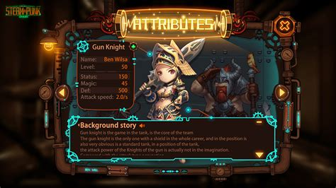 design games steam concept game ui design steampunk origin on behance