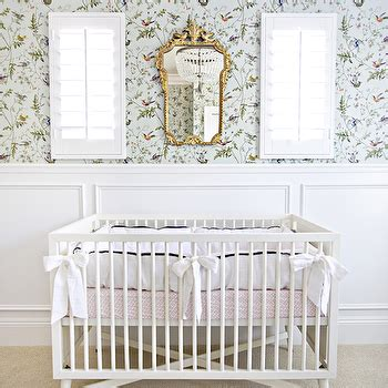Nursery With Wainscoting by Wallpaper For Nurseries Transitional Nursery Tracey