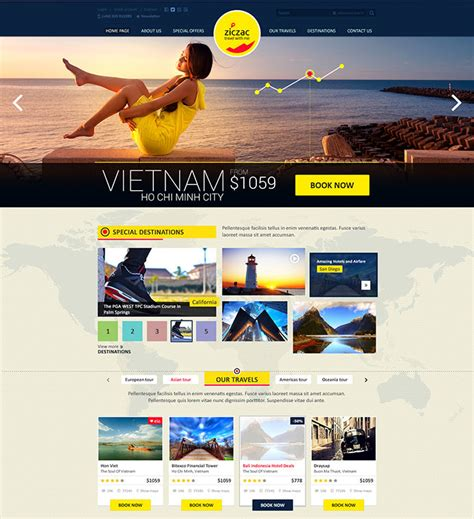 22 Beautiful Travel Website Templates Web Graphic Design Bashooka Travel Booking Website Templates Free