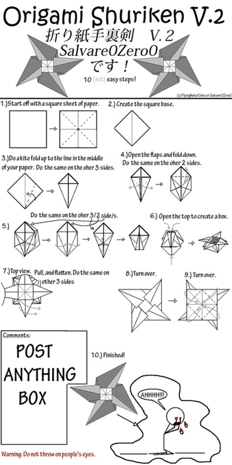 How To Make A Origami Shuriken - origami shuriken v 2 tutorial by salvare0zero0 on deviantart