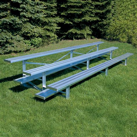 aluminum sport benches 15 all aluminum standard bleacher 3 row natural finish