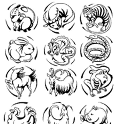 new year zodiac animals coloring pages pics for gt zodiac animals colouring pages