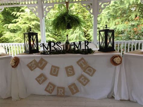 bride and groom s table for rustic wedding outdoor