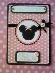 Handmade Minnie Mouse Birthday Cards - about buttons handmade minnie mouse inspired