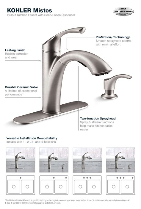 kohler single handle kitchen faucet repair kohler mistos kitchen faucet parts kohler mistos single